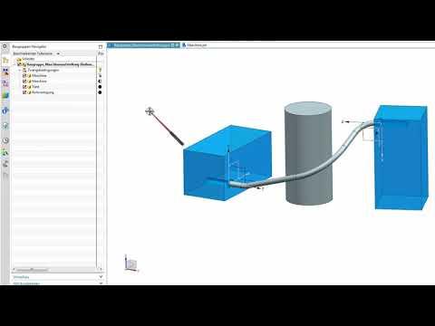NX Rohrverlegung mit Grundfunktionen (NX12)