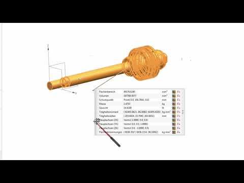 NX 12 Massenschwerpunkt berechnen und erzeugen